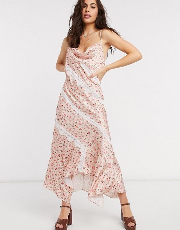 Φλοράλ slip dress