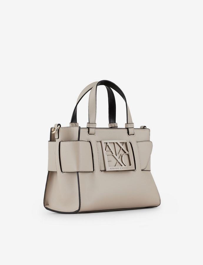 Τσάντα satchel με logo