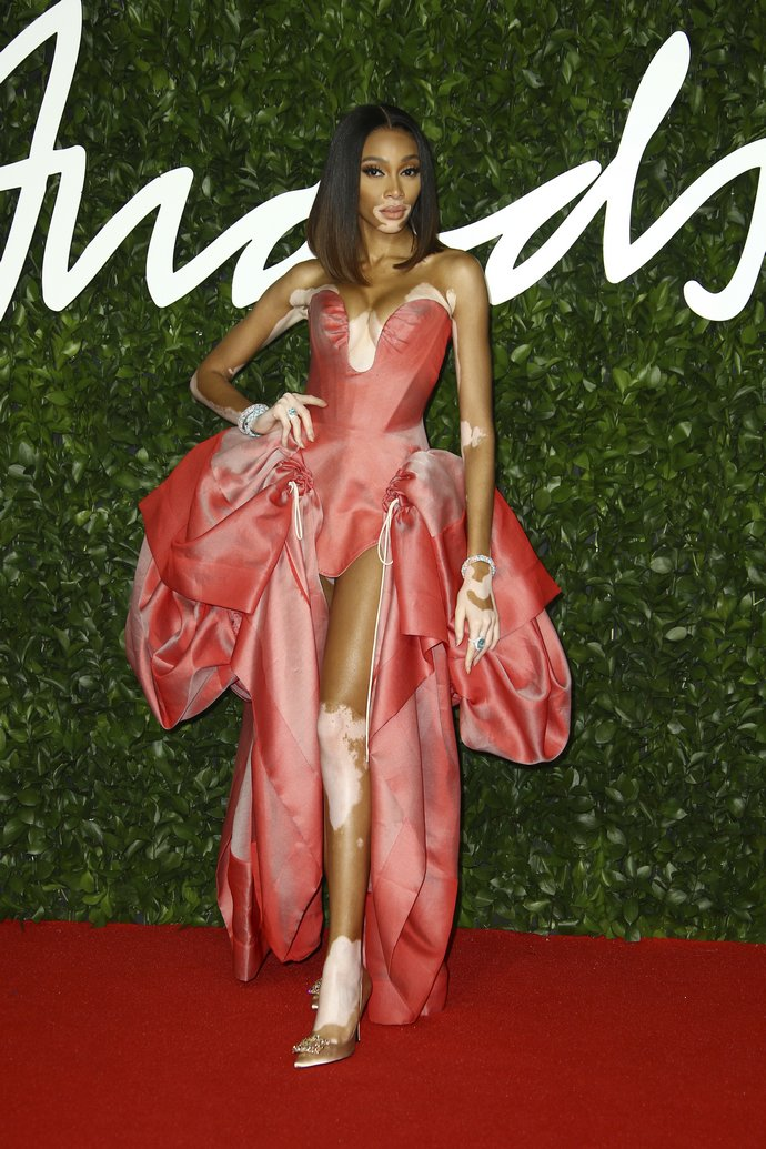H Winnie Harlow στα British Fashion Awards 2019