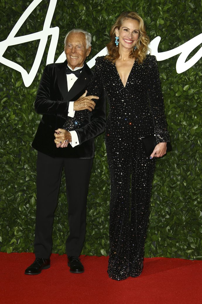 O Giorgio Armani και η Julia Roberts στα British Fashion Awards 2019