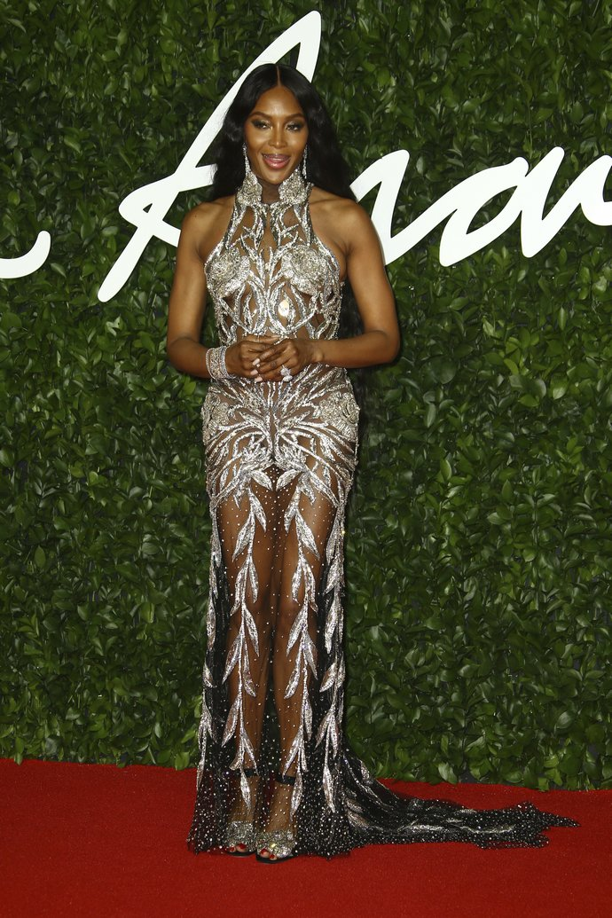 H Naomi Campbell στα British Fashion Awards το 2019