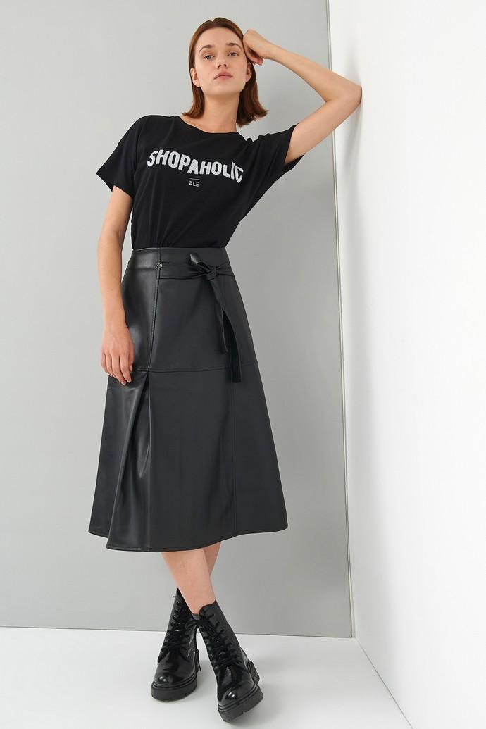 Mίντι φούστα με δέσιμο