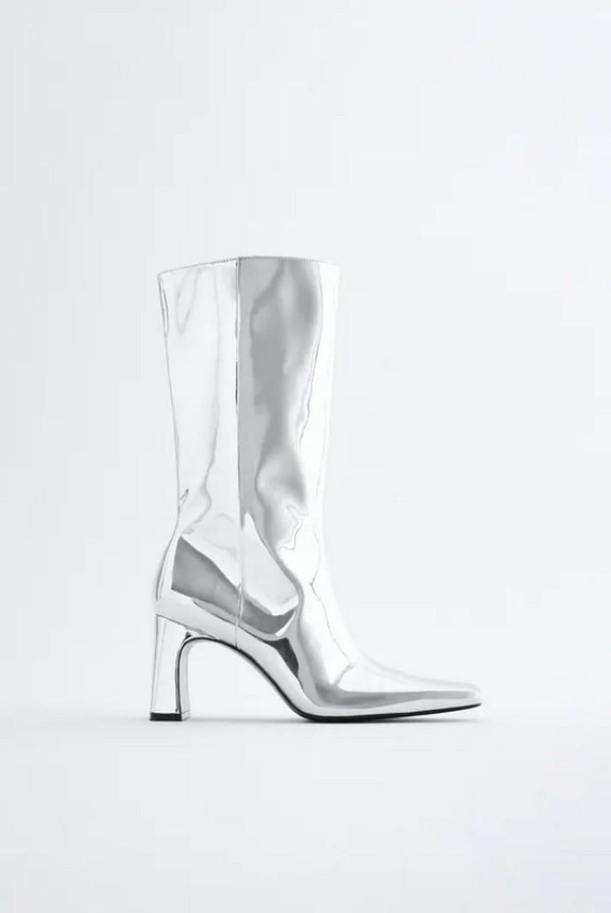 Mπότες μέχρι το γόνατο metallics