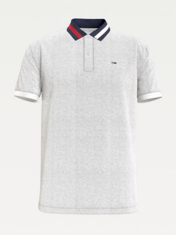 Polo μπλούζα με signature γιακά