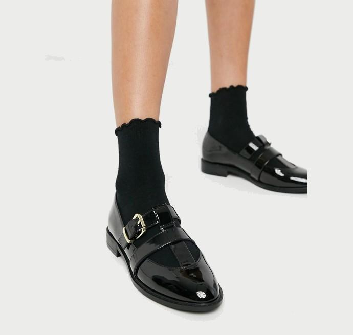 Φλατ παπούτσια λουστρίνι
