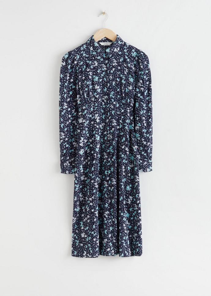 Μίντι φόρεμα με γιακά