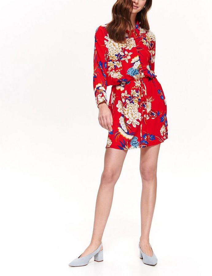 Shirtdress με έντονο φλοράλ print