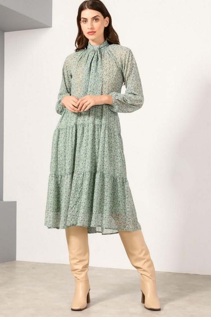 Μίντι φόρεμα με φιόγκο