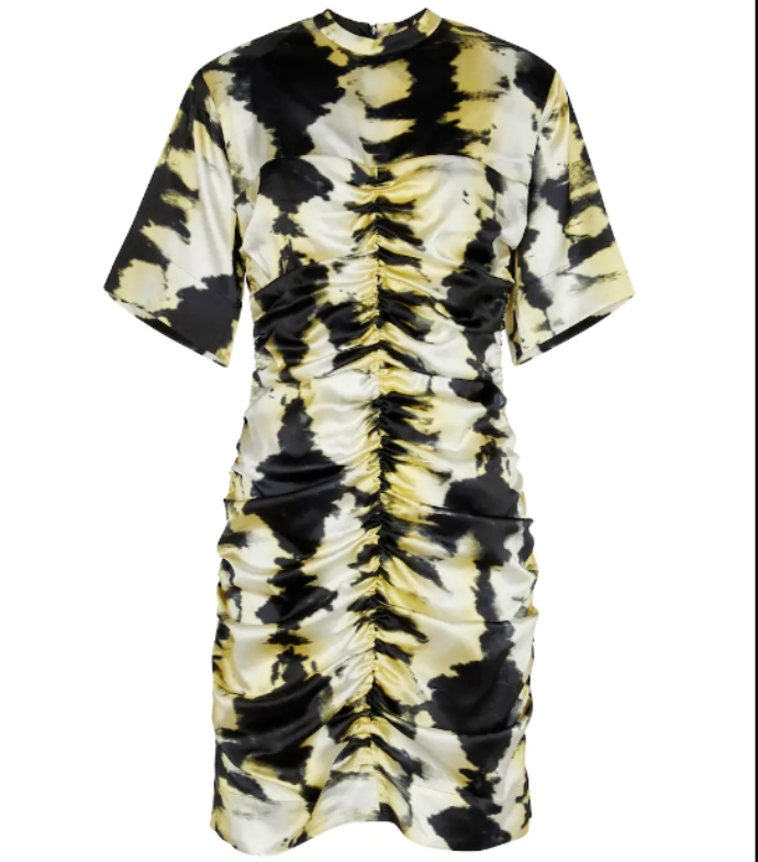 mini tie dye φόρεμα με σούρες