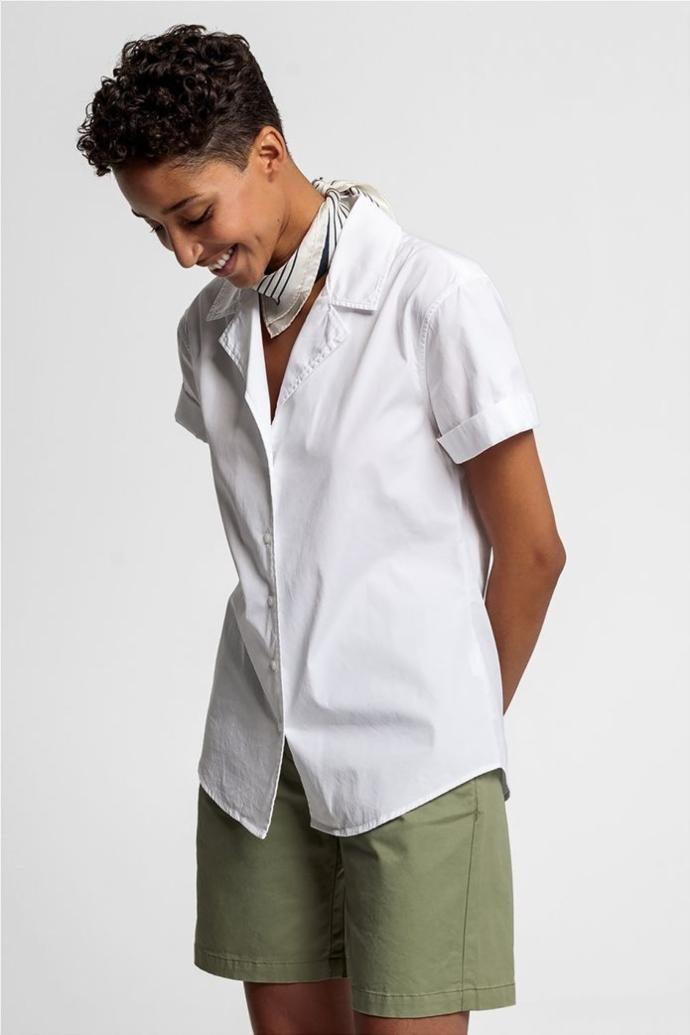 λευκό κοντομάνικο πουκάμισο