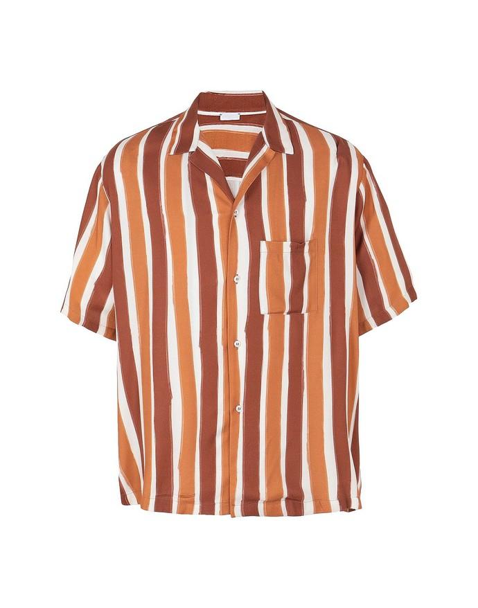 Ριγέ πουκάμισο με τσέπη