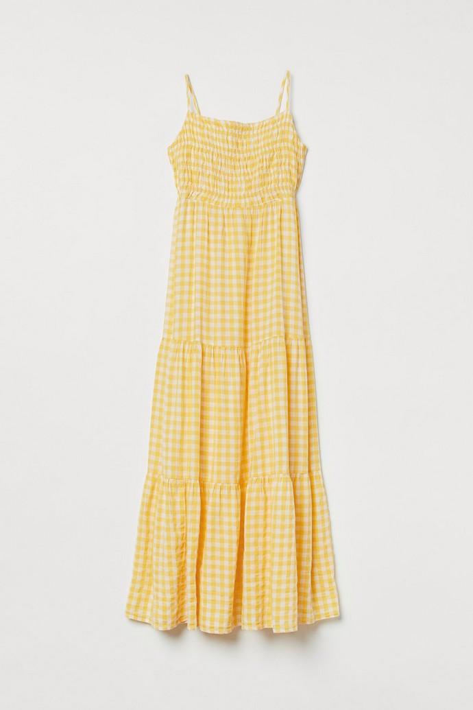 Φόρεμα gingham σφηκοφωλιά
