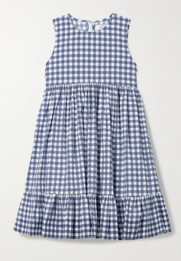 Μίνι gingham φόρεμα