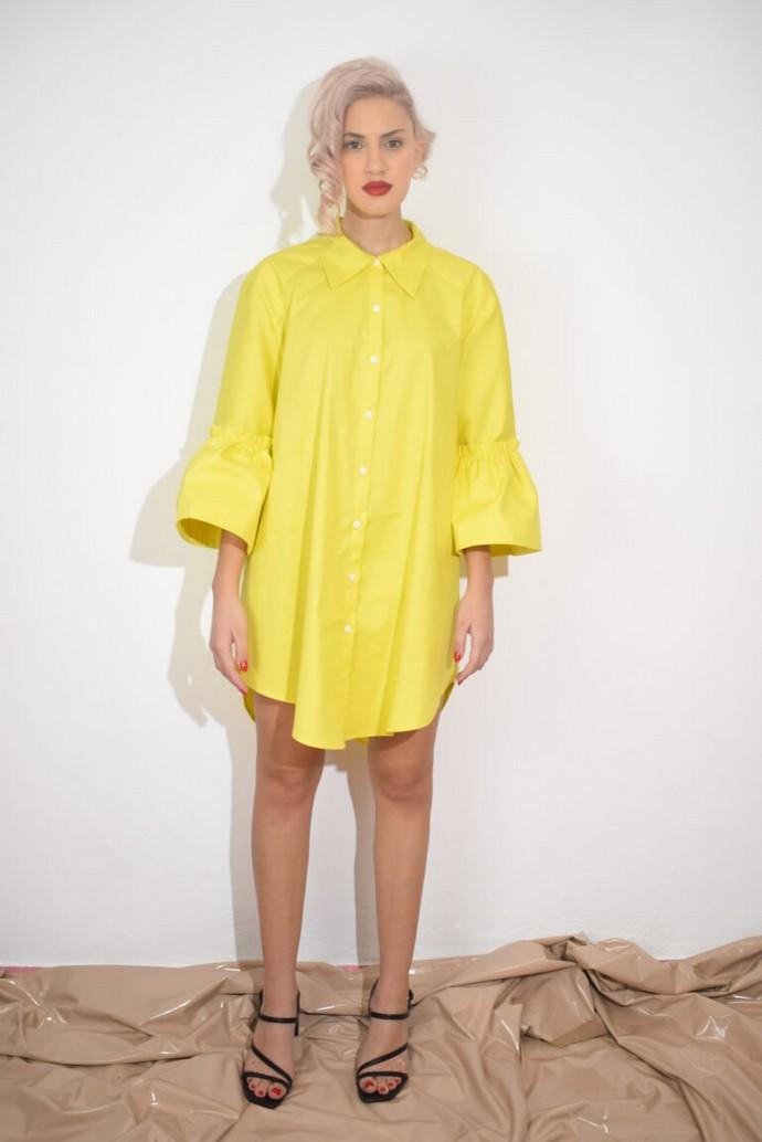 Shirtdress με statement μανίκια