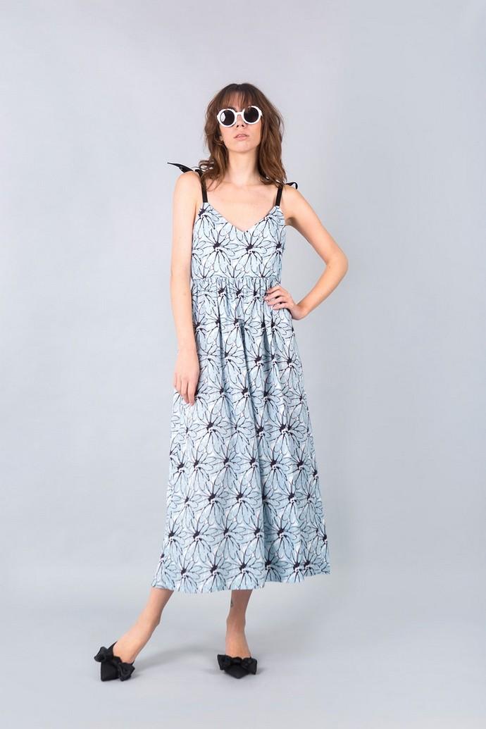 Μίντι printed φόρεμα