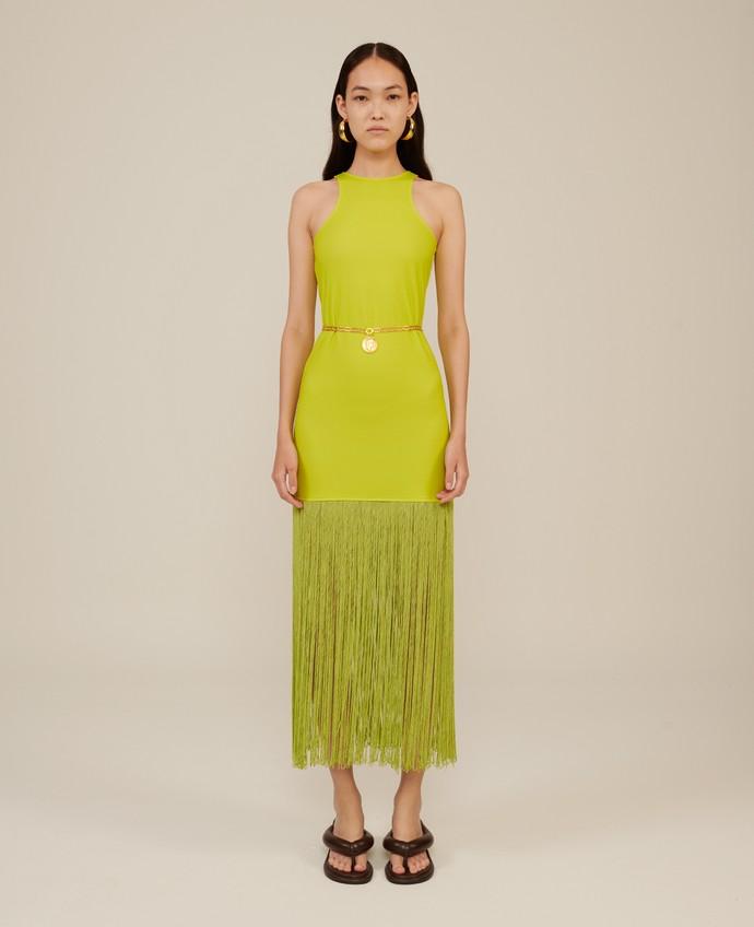Φόρεμα με κρόσσια