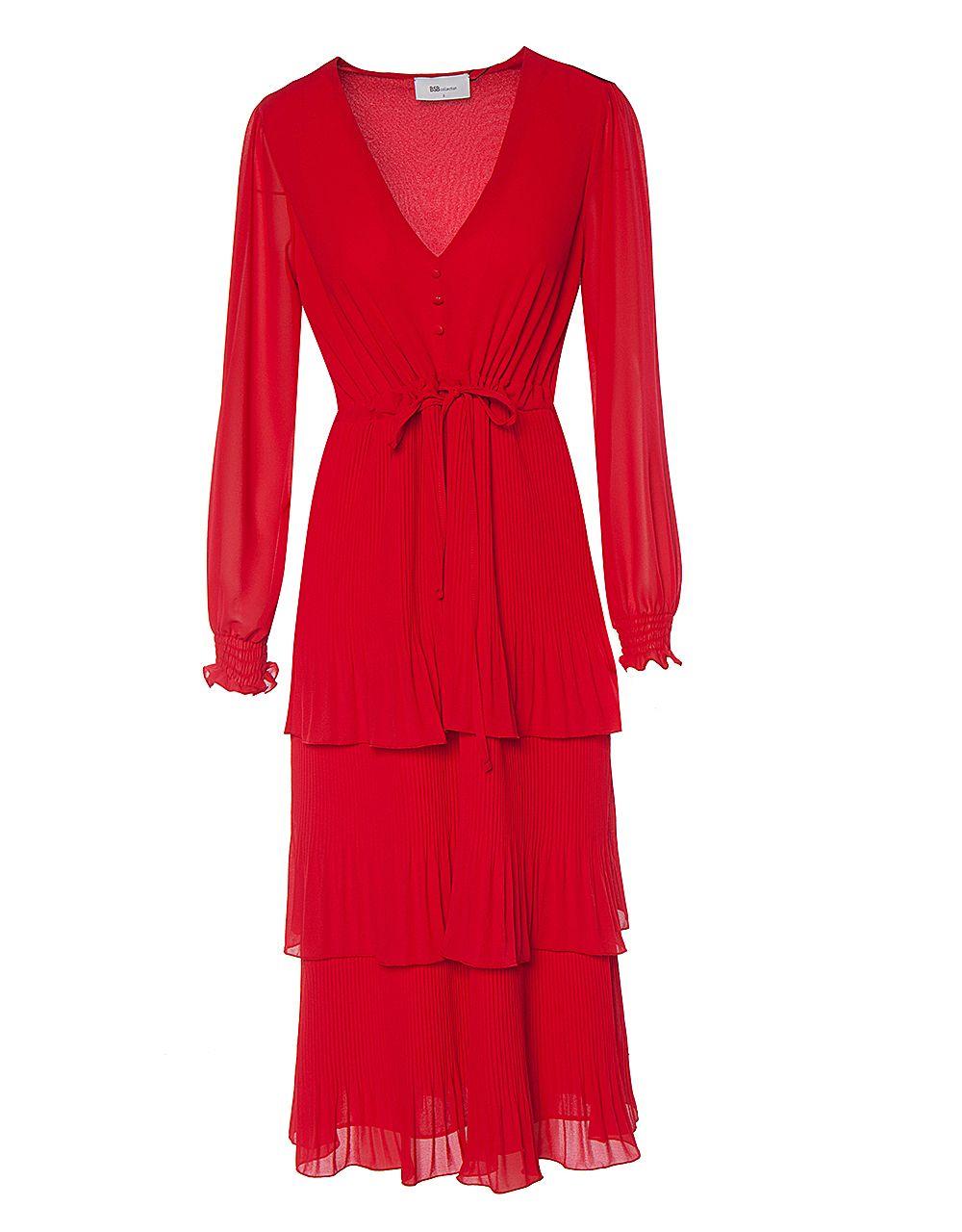 Πλισέ μάξι φόρεμα
