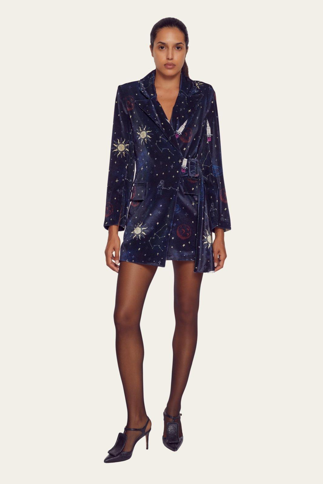 Βελούδινο blazer dress