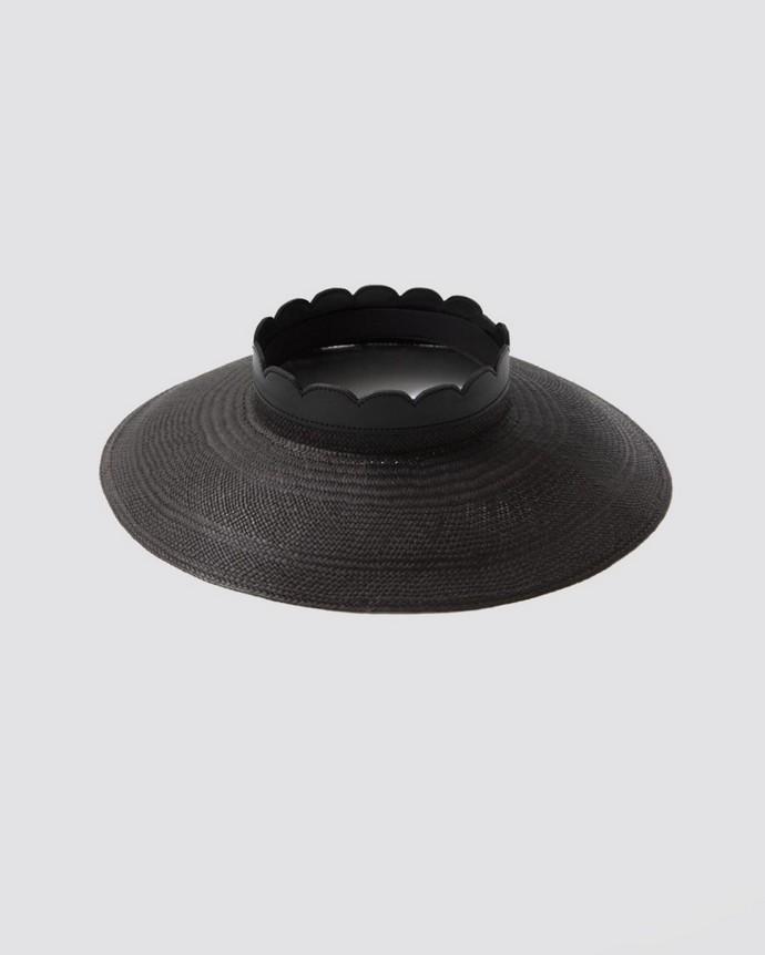Ψάθινο καπέλο με άνοιγμα
