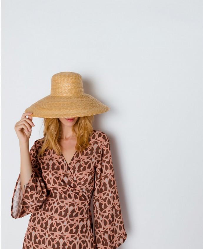 Ψάθινο χειροποίητο καπέλο