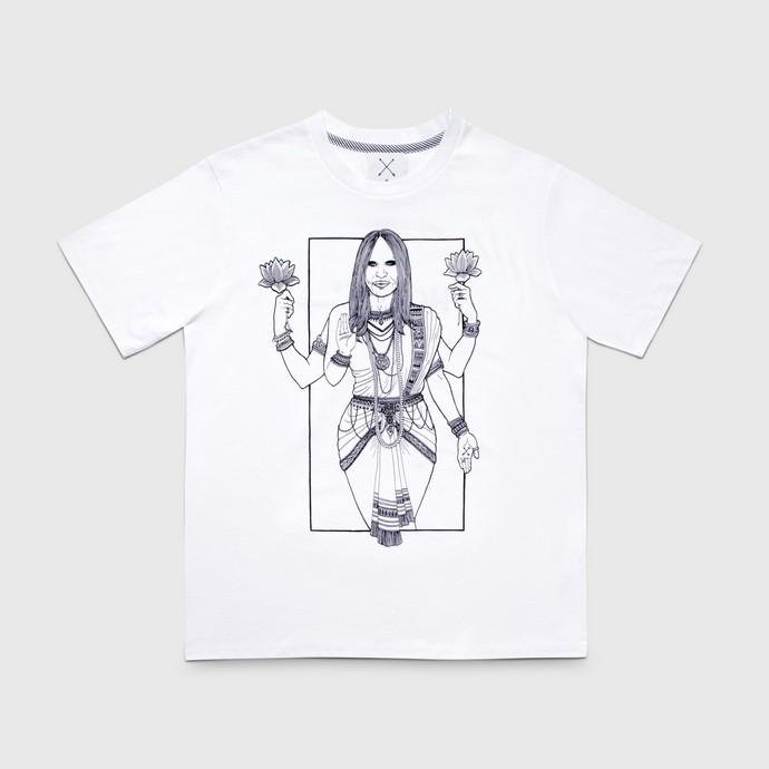 Τ-shirt με χειροποίητο τύπωμα