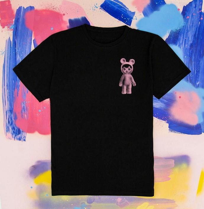 T-shirt με τύπωμα στο χέρι