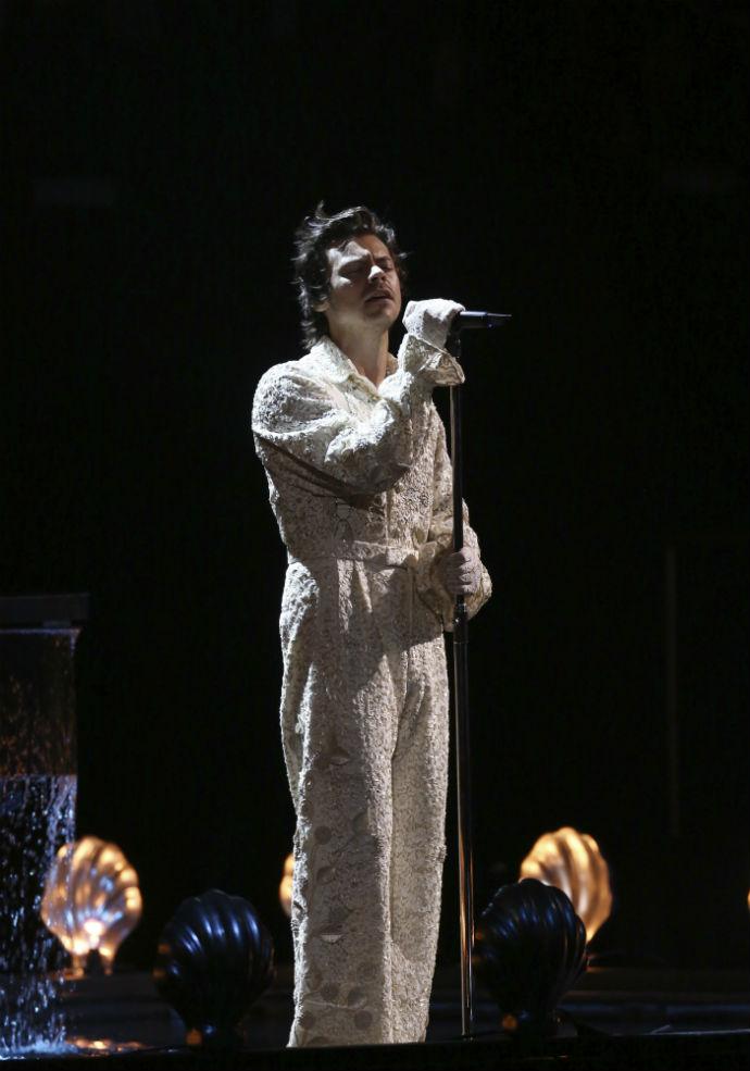 Harry Styles διχτυωτό καλσόν