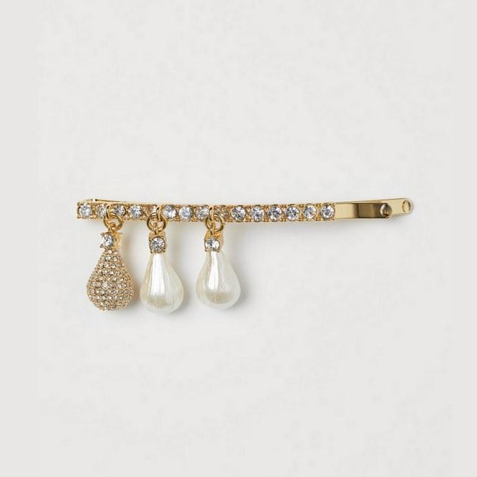 H&M Μεταλλικό hair clip με pendants