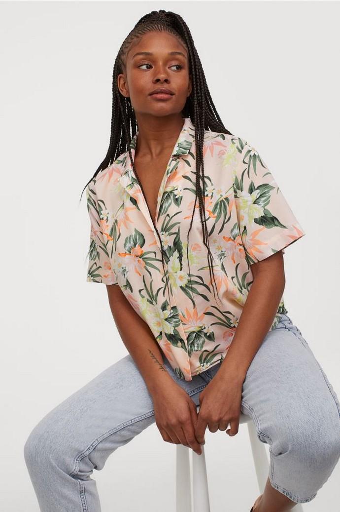 Τάμτα φλοράλ πουκάμισο