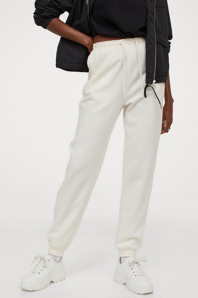 Joggers παντελόνι φόρμα ψηλόμεσο σε off white
