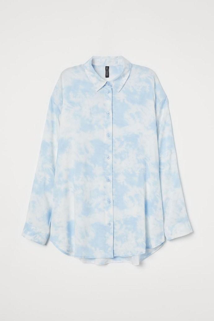 Oversized πουκάμισο με μοτίβο
