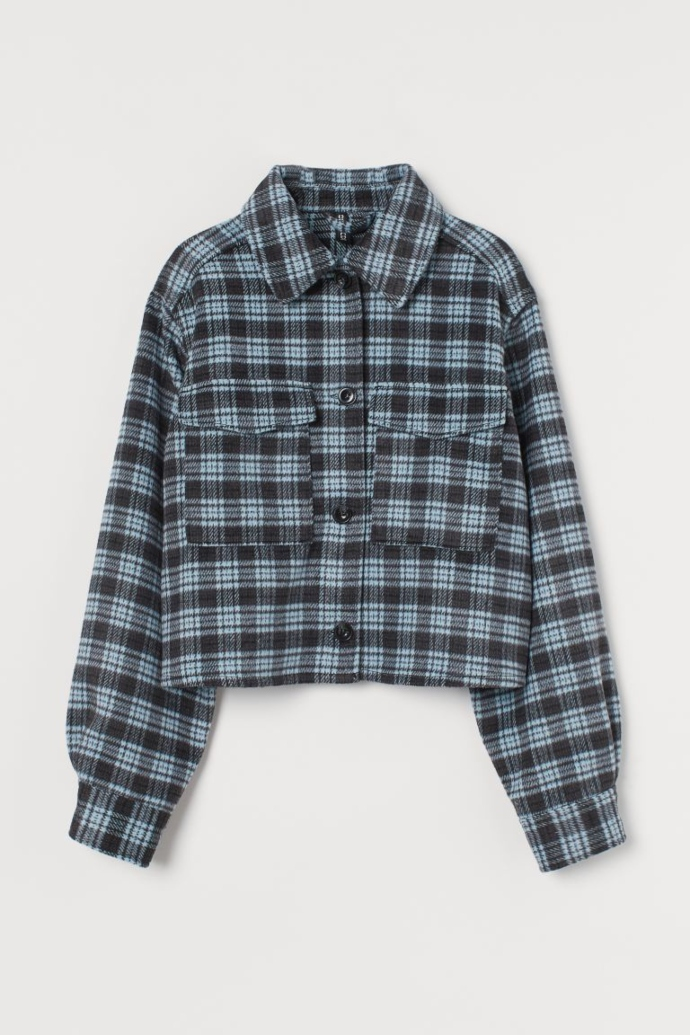 Cropped shirt jacket