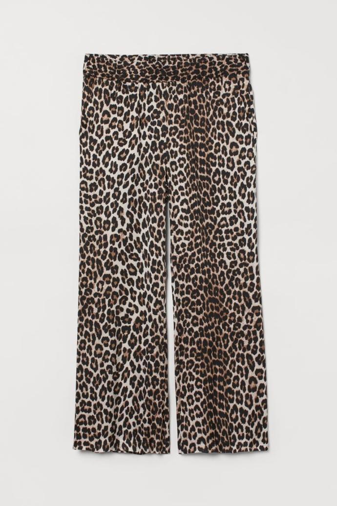 Παντελόνι από βισκόζη με μοτίβο animal print