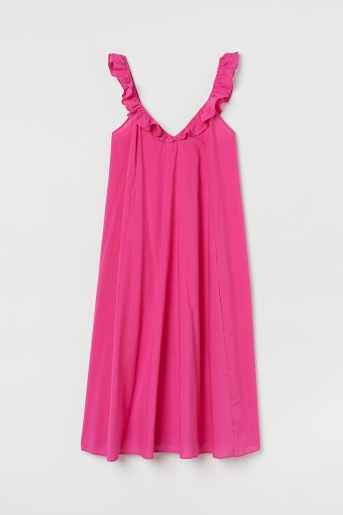 Φόρεμα με βολάν στις τιράντες
