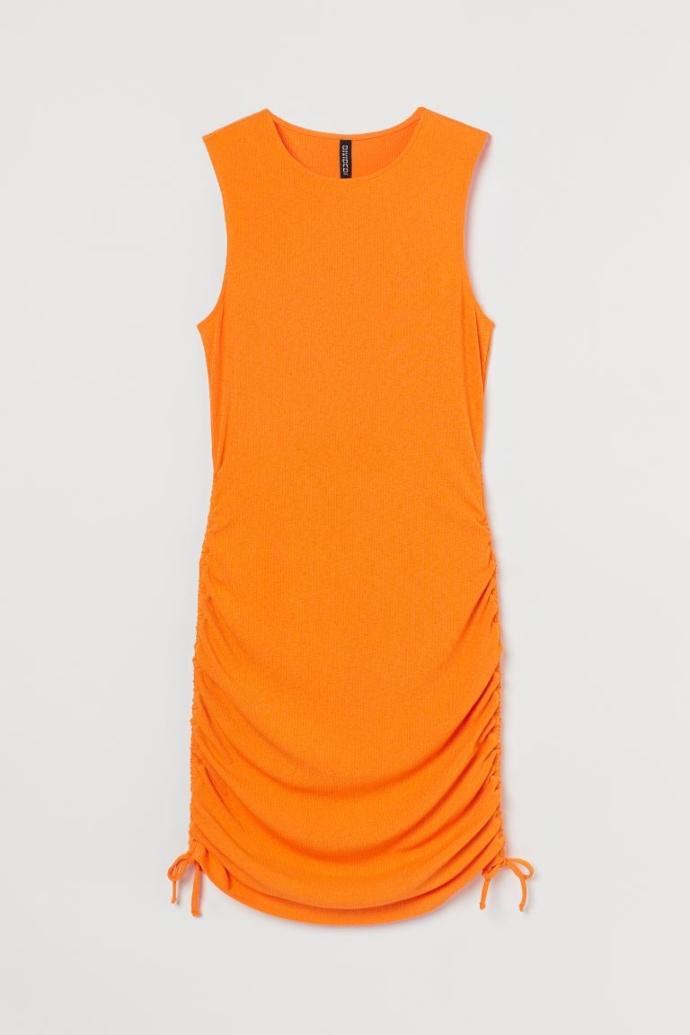 Ζέρσεϊ φόρεμα με ύφανση ριμπ