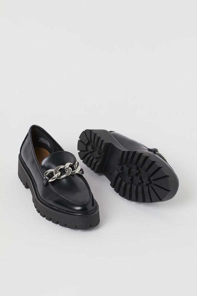 chunky loafers με αλυσίδα