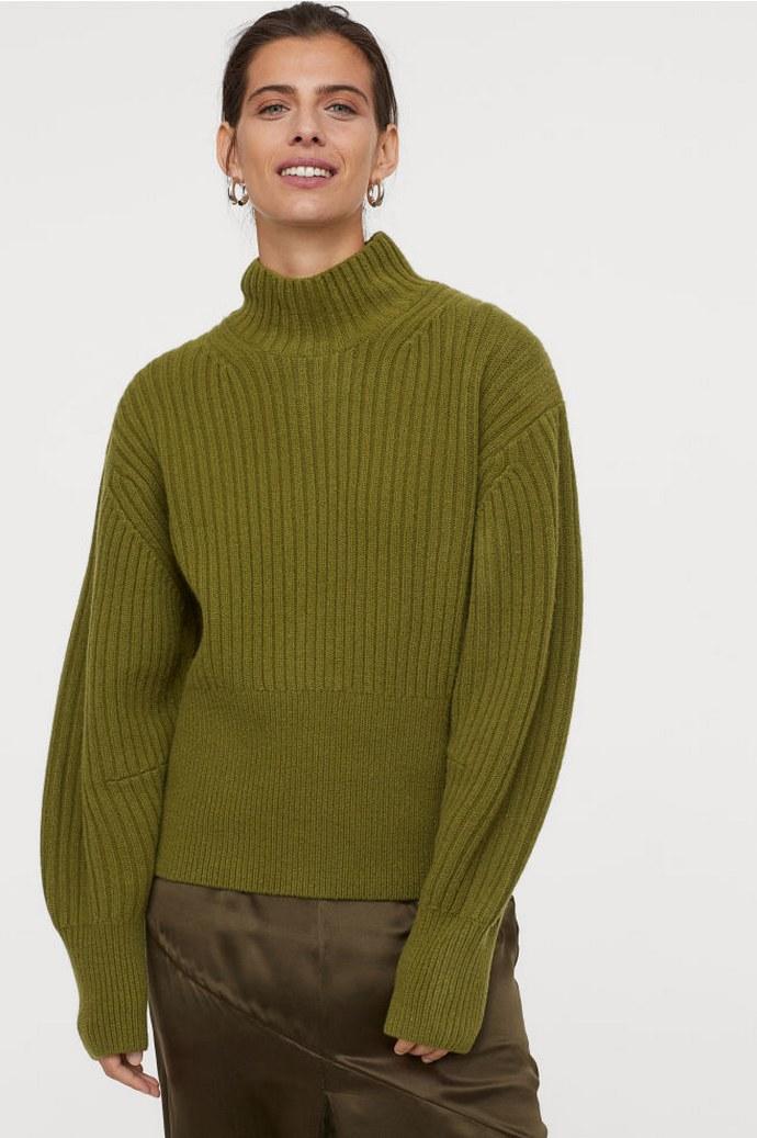 λαδί πουλόβερ