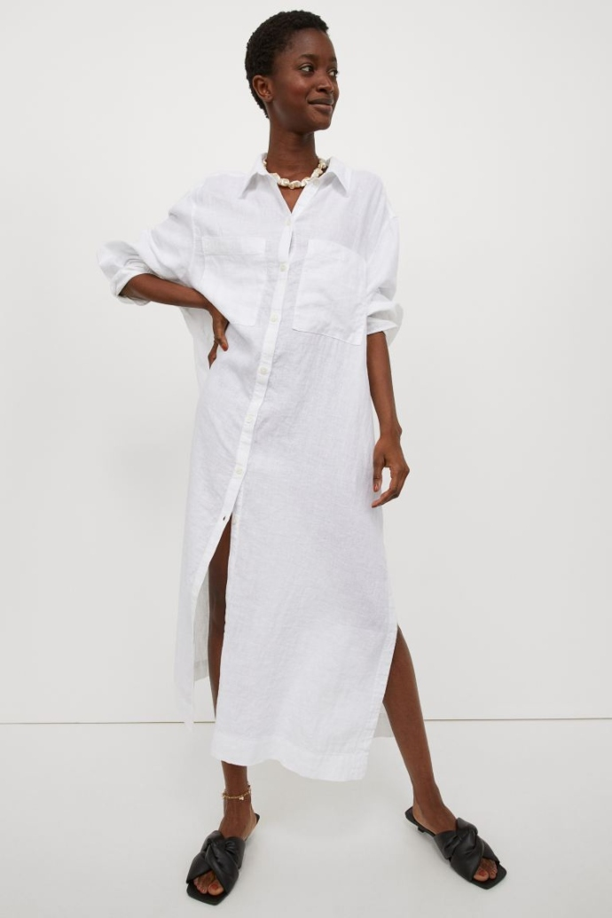 Σεμιζιέ λευκό φόρεμα