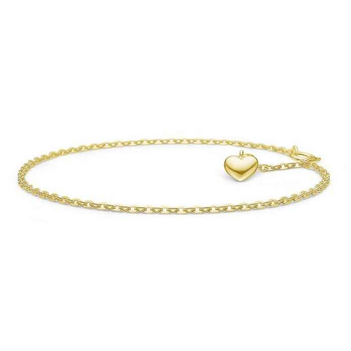 Βραχιόλι Amour από ασήμι με χρυσό 22K