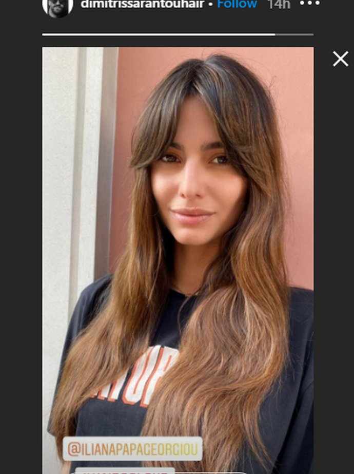 Ηλιάνα Παπαγεωργίου μαλλιά