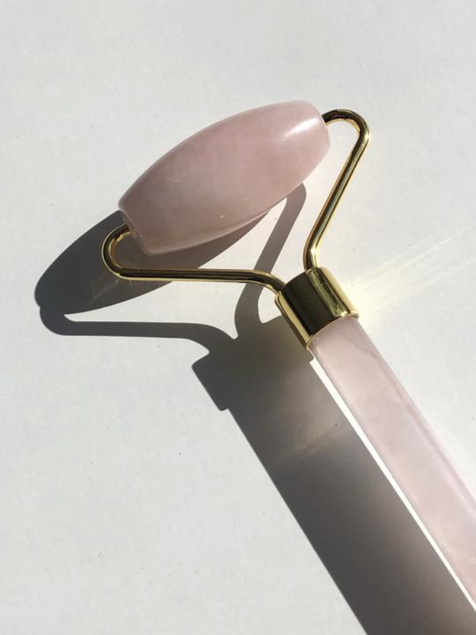 Facial Roller Rose quartz