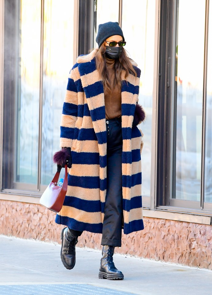 Irina Shayk teddy coat