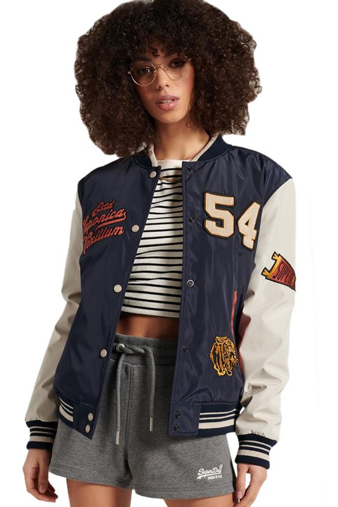Varsity jacket με τυπώματα