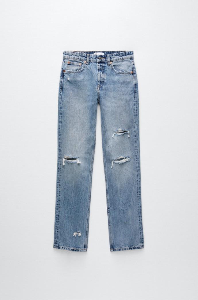 Τζιν παντελόνι με σκισίματα