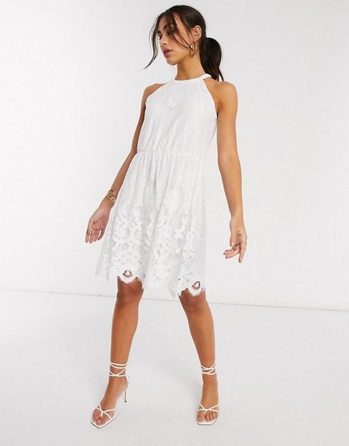 Μίνι crochet φόρεμα