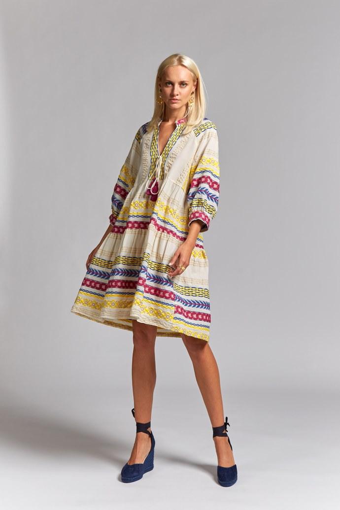 Καφτάνι φόρεμα με κεντήματα