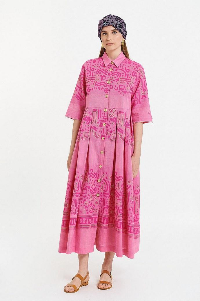 Φόρεμα από 100% ελληνικό βαμβάκι