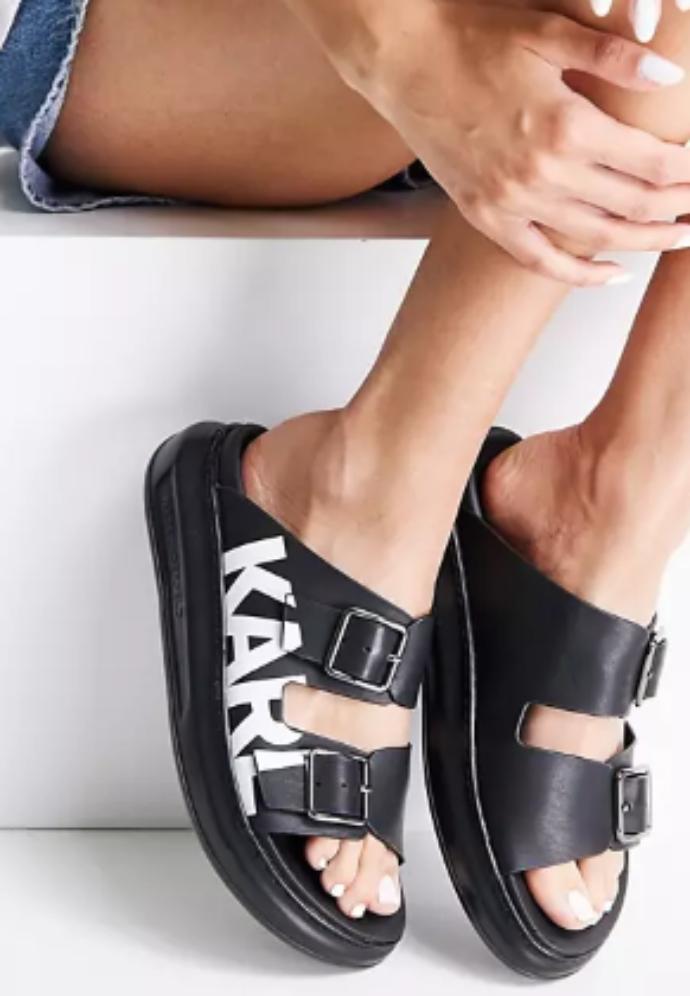 chunky slide sandals