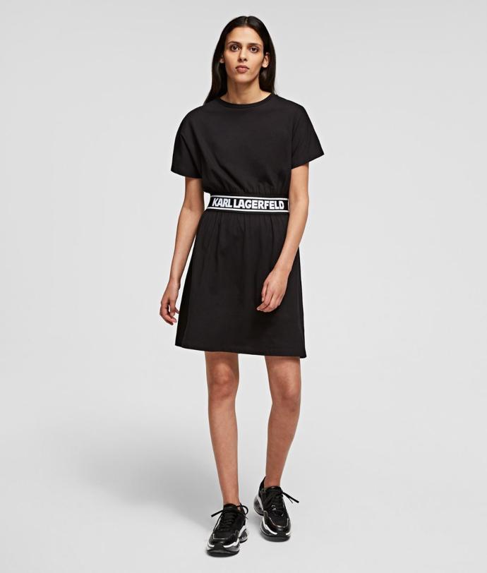 t-shirt dress με logo