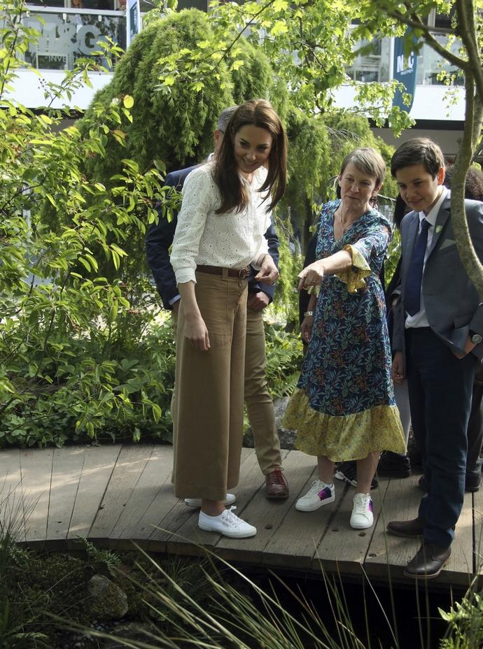 H Kate Middleton στο Chelsea Flower Show το 2019
